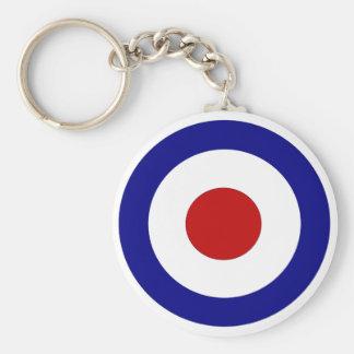 Mod Target Basic Round Button Key Ring
