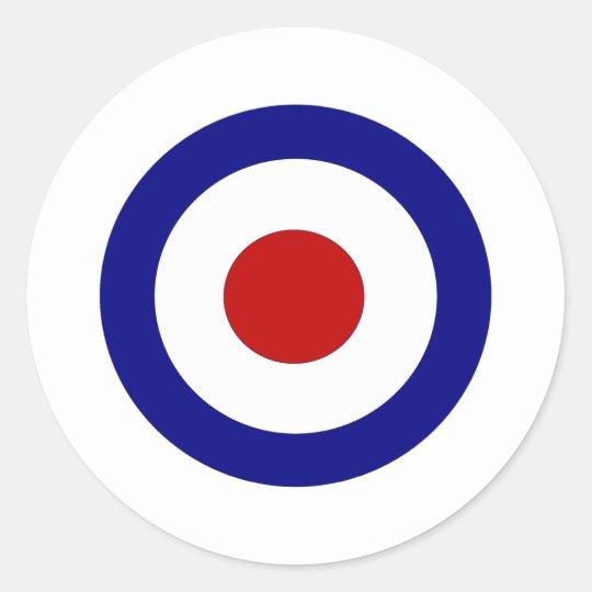 Mod Target Classic Round Sticker