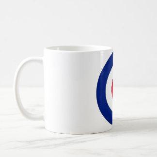 Mod Target Design Basic White Mug