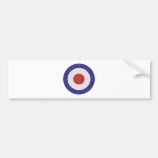 Mod Target Distressed Bumper Sticker
