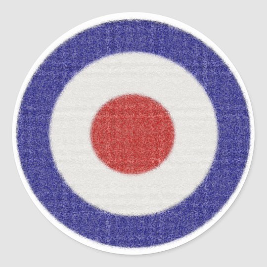 Mod Target Distressed Classic Round Sticker