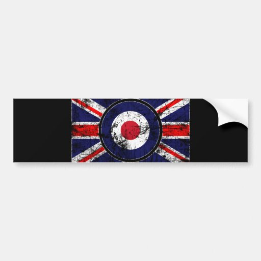 Mod Target Mods England Target Scooter Bumper Stickers