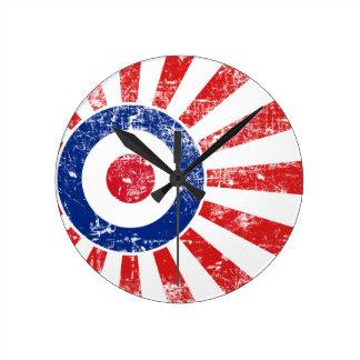 Mod Target Mods Sunburst Target Roundel Wall Clock