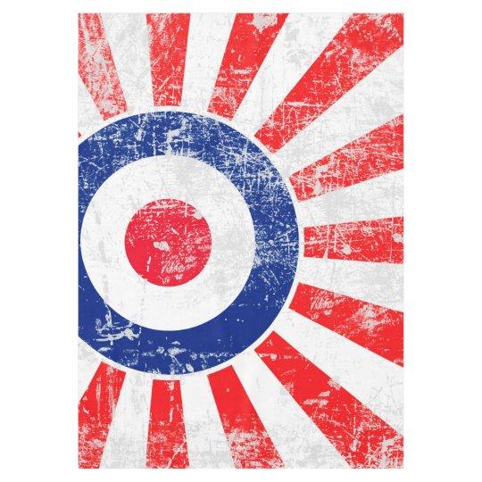 Mod Target Mods USA Target Grunge Roundel Tablecloth