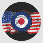 Mod Target Mods USA Target Scooter Round Stickers