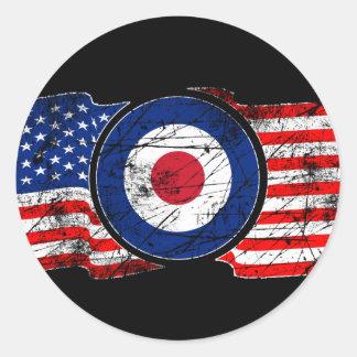 Mod Target Mods USA Target Scooter Round Sticker