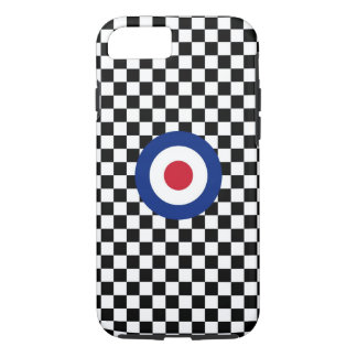 Mod Target Roundel on Checkers iPhone 7 Case