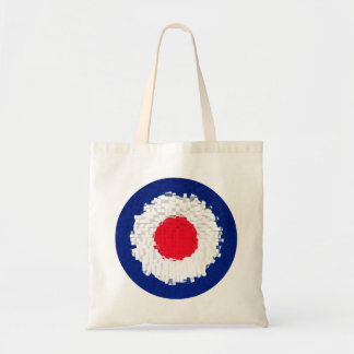 Mod Target with effect applied Canvas Bag
