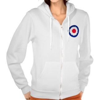 Mod Target with effect applied Hooded Sweatshirt