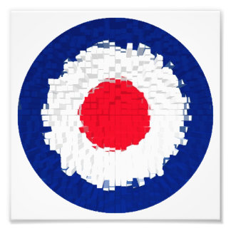 Mod Target with effect applied Photo Print