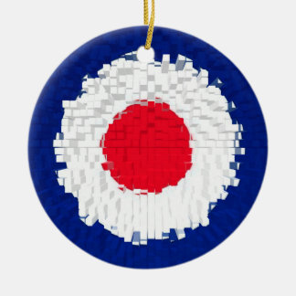 Mod Target with effect applied Round Ceramic Decoration