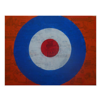 Mod Target with Scooter background Poster
