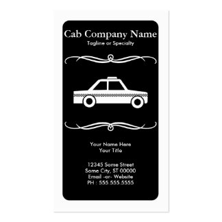 mod taxi cab pack of standard business cards