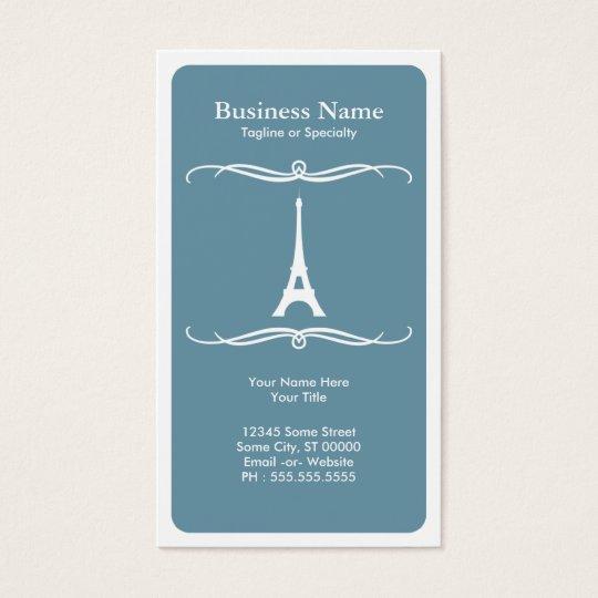 mod travel (eiffel tower) business card