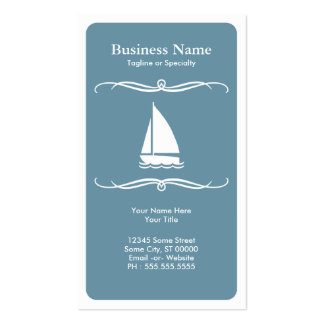 mod travel sail boat business cards
