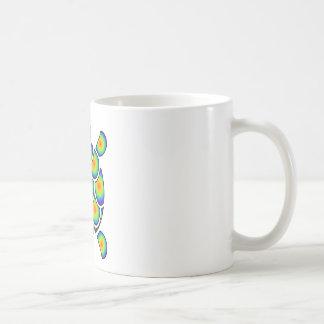 Mod Tye Dye Sea Turtle Coffee Mugs