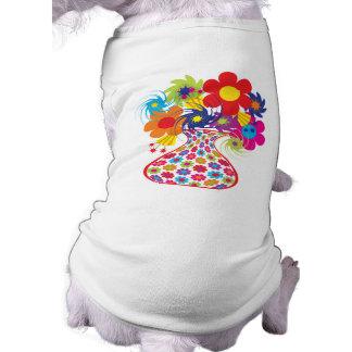 Mod Vased Floral Doggie Tshirt