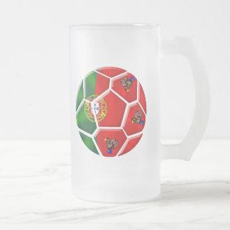 Moda Portuguesa - Fuetbol Chique Frosted Glass Mug