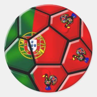 Moda Portuguesa - Fuetbol Chique Round Stickers