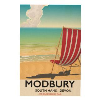Modbury Devon vintage seaside poster