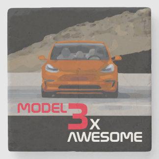 MODEL 3 - 3X AWESOME STONE COASTER