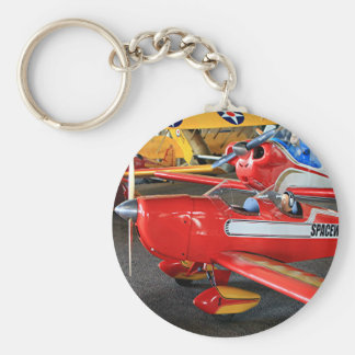 Model aircraft basic round button key ring