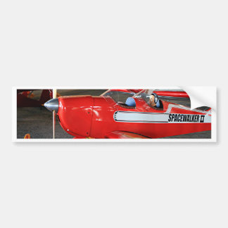 Model aircraft bumper sticker