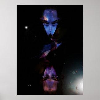 "Model average poster, ""The Alien Lady, Color "" Poster"