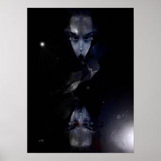 "Model average vertical poster, ""The Alien Lady "" Poster"