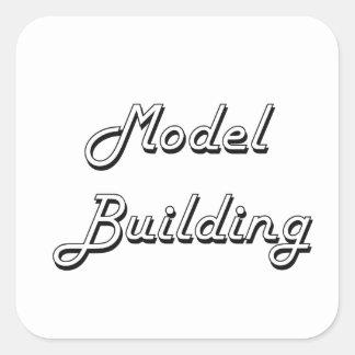Model  Building Classic Retro Design Square Sticker