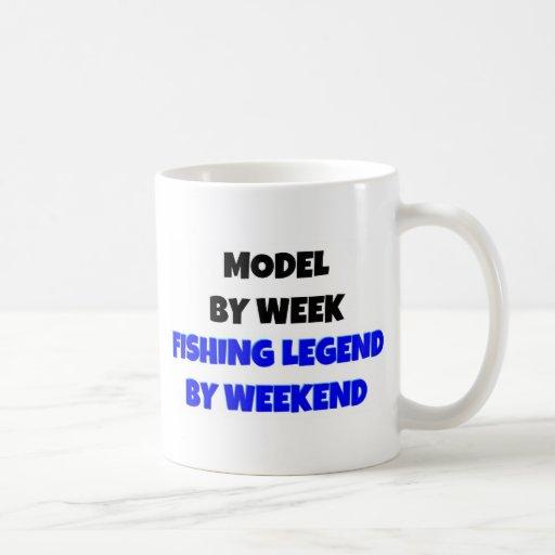 Model by Week Fishing Legend By Weekend Coffee Mug