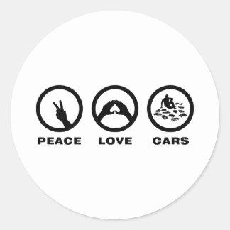 Model Cars Lover Round Sticker