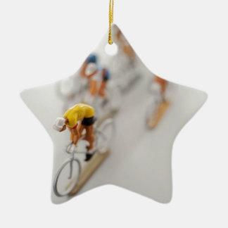 Model Cyclists Ceramic Star Decoration