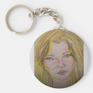 model features basic round button key ring