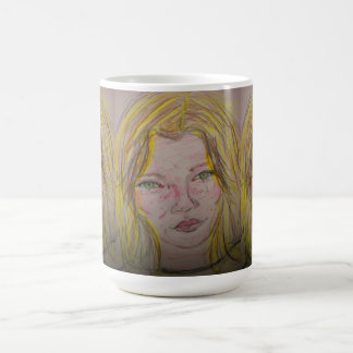 model features coffee mug