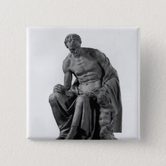 Model for a monument to Jean-Jacques Rousseau 15 Cm Square Badge