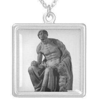 Model for a monument to Jean-Jacques Rousseau Silver Plated Necklace