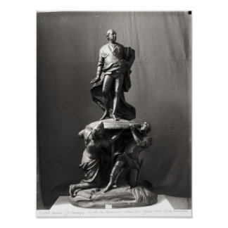 Model for the monument of Louis XV Poster