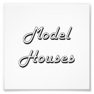 Model Houses Classic Retro Design Photo