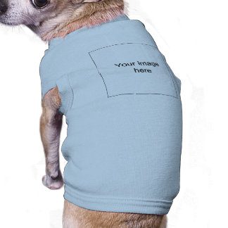 Model in target of customized group of shirt