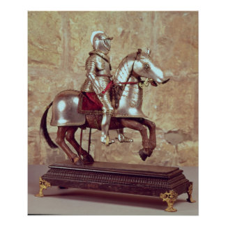 Model of a barded horse and rider, c.1640 poster