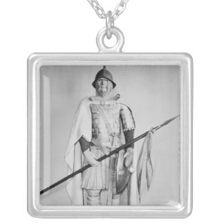 Model of a Carolingian cavalryman Silver Plated Necklace