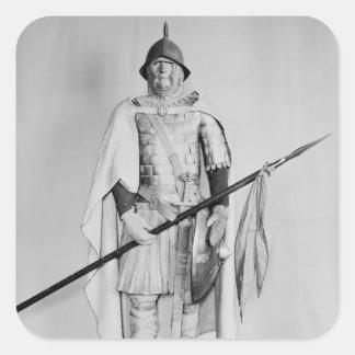 Model of a Carolingian cavalryman Square Sticker