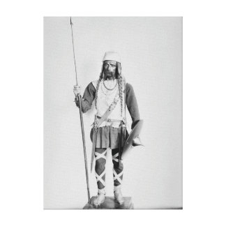 Model of a Frankish warrior Canvas Print