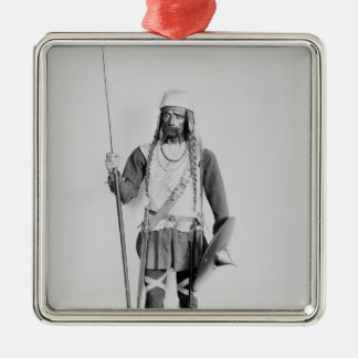 Model of a Frankish warrior Christmas Ornament