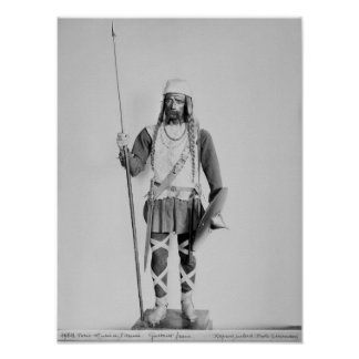 Model of a Frankish warrior Poster