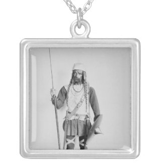 Model of a Frankish warrior Silver Plated Necklace