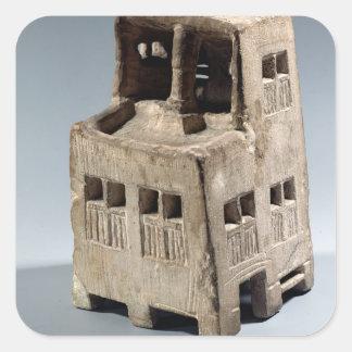 Model of a house (limestone) square sticker