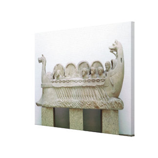Model of a ship transporting wine on the canvas print