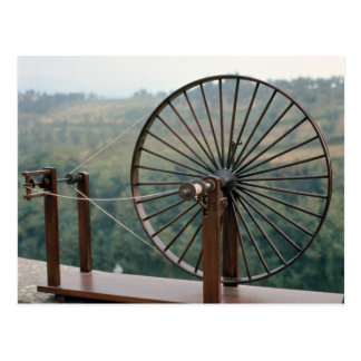 Model of a spinning machine postcard